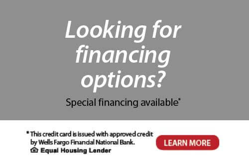 Looking for financing options? Special financing is available.